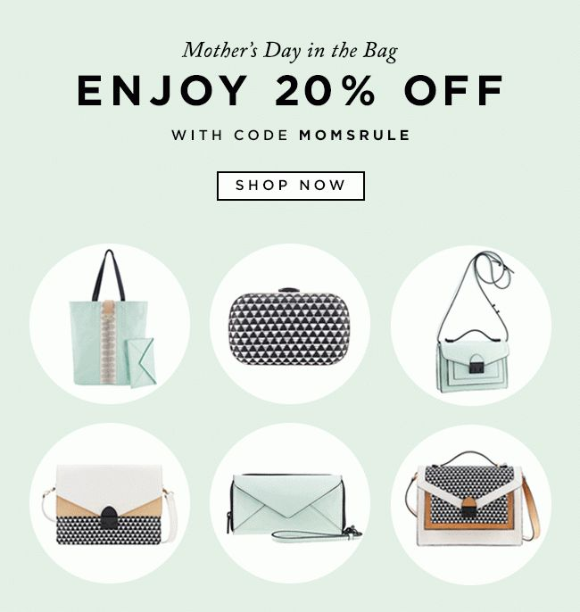#newsletter Loeffler Randall 05.2014 Show Mom Love | 20% Off Handbags