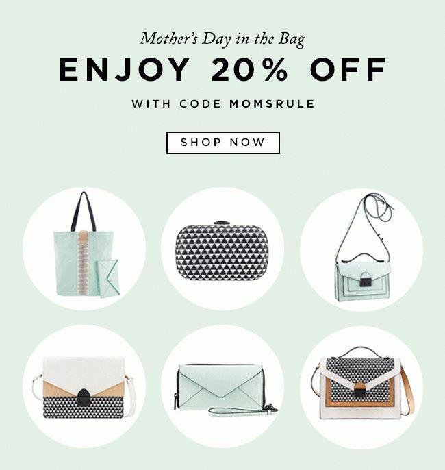 #newsletter Loeffler Randall 05.2014 Show Mom Love | 20% Off Handbags