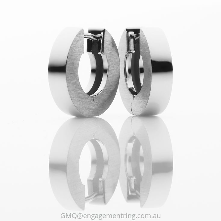 Solid white gold hinged contemporary earrings by GMQ@engagementring.com.au
