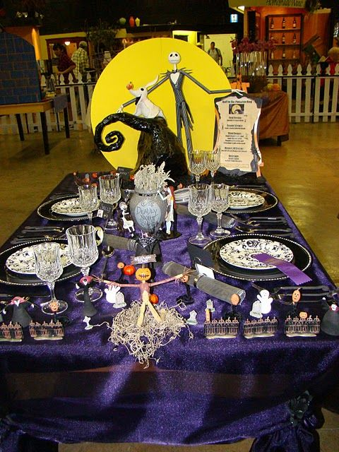 22 best a nightmare before christmas themed ideas images for Deco de table halloween
