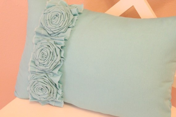 Country #aqua #pillowYellow Flower, White Room