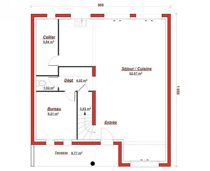 54 best plan images on Pinterest Blueprints for homes, Future - Plan Maison Moderne  Chambres
