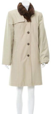 Loro Piana Fur-Trimmed Knee-Length Coat