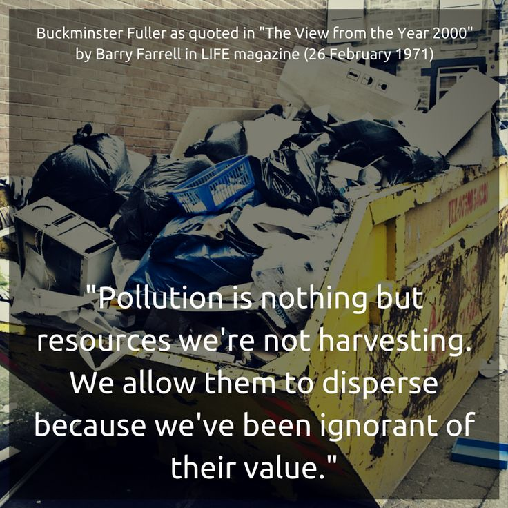 Buckminster Fuller on how technology can help us look at pollution differently.