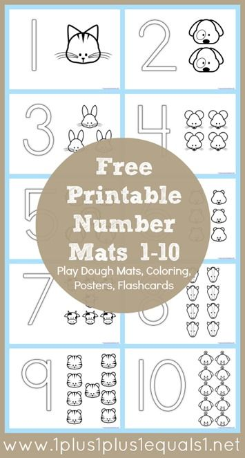 FREE Number Coloring Mats