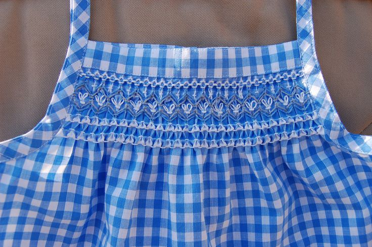ikat bag: Smocked Sundress in Gingham: hand smoking without a pleater