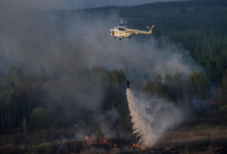 Chernobyl ablaze: Wildfires rage near nuclear power plant. A photo series — Meduza