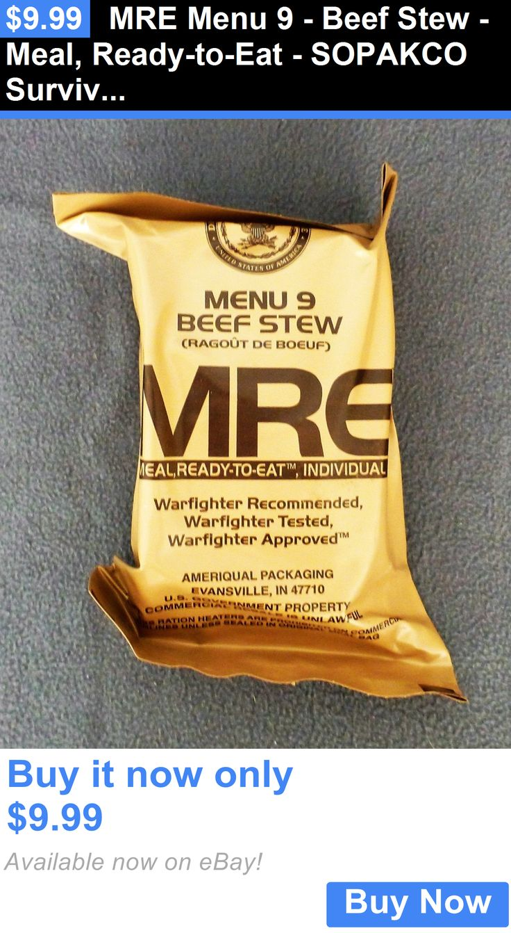 Food And Drink: Mre Menu 9 - Beef Stew - Meal, Ready-To-Eat - Sopakco Survival Food Storage BUY IT NOW ONLY: $9.99