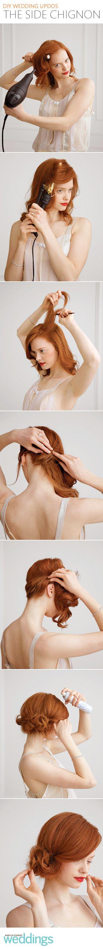 #coiffure #hair #mariée #mariage #DIY #wedding