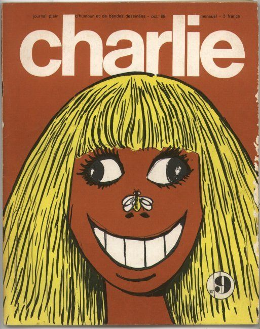 Charlie Mensuel - # 9 - Octobre 1969 - Couverture de Wolinski