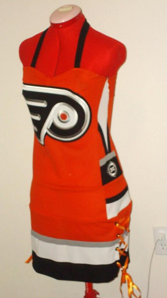 Philadelphia Flyers jersey Dress.  I was searching Philadelphia Flyers and I saw someone posted a picture of MY dress! So Cool!!!!