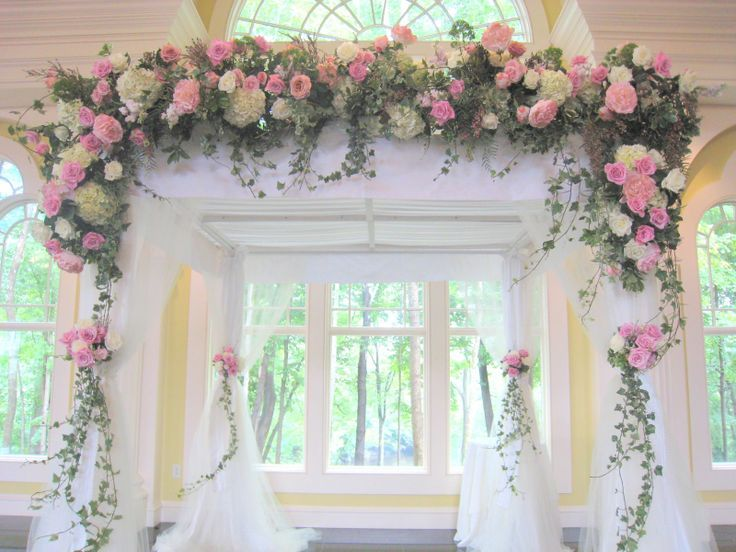 Hydrangeas, roses and ivy