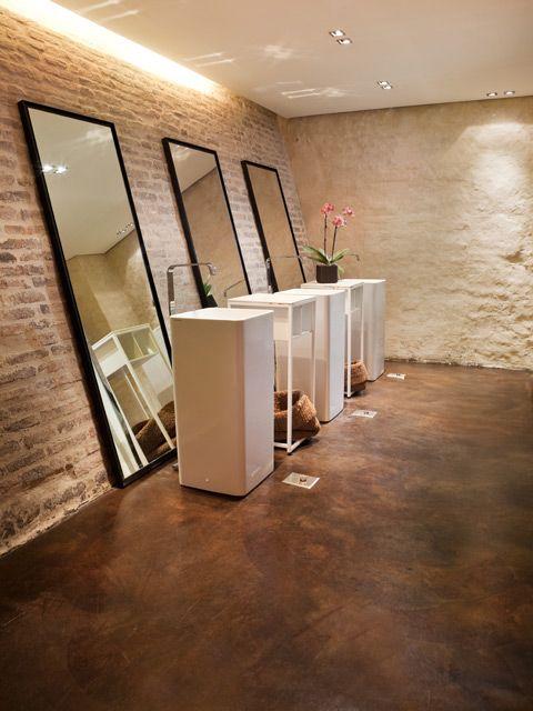 89 best public toilets images on pinterest bath room for Concrete bathroom floor