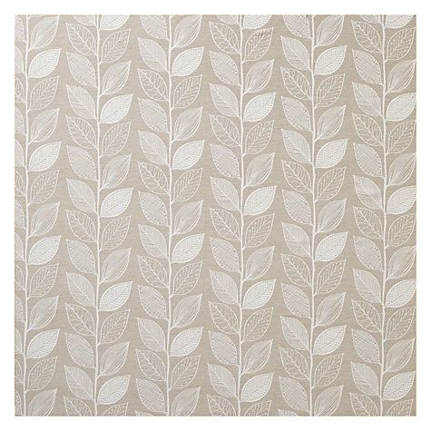 Buy John Lewis Amy Leaf Curtain, Natural | John Lewis