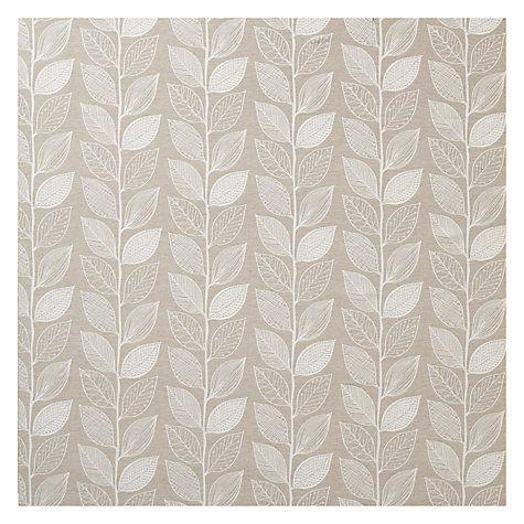 Buy John Lewis Amy Leaf Curtain, Natural | John Lewis