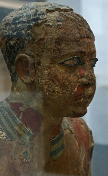 The scribe Mitri, 2500 BC. Details, Egyptian Museum, Cairo - Egypt.