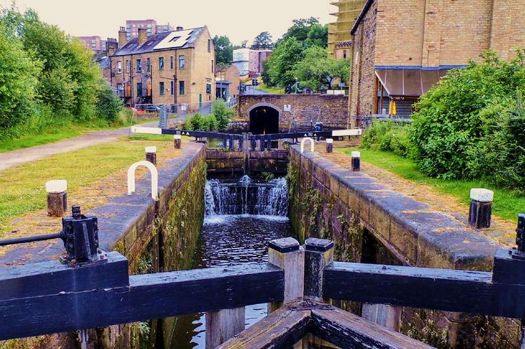 Taken on the Rochdale Canal at Sowerby Bridge looking towards Tuel Lane Tunnel, and over lock number 2. More of my pictures and information can be seen at, www.colingreenphotography.blogspot.co.uk