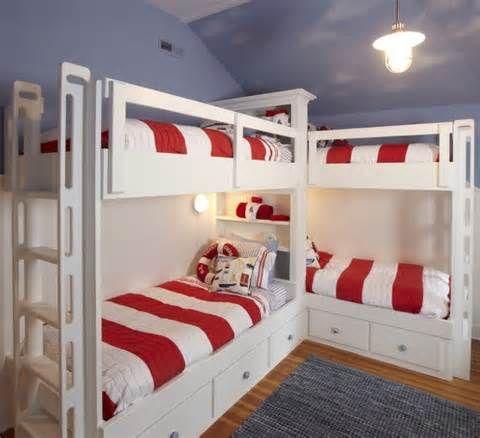 Corner Built In Bunk Beds Plans Bunks Nooks
