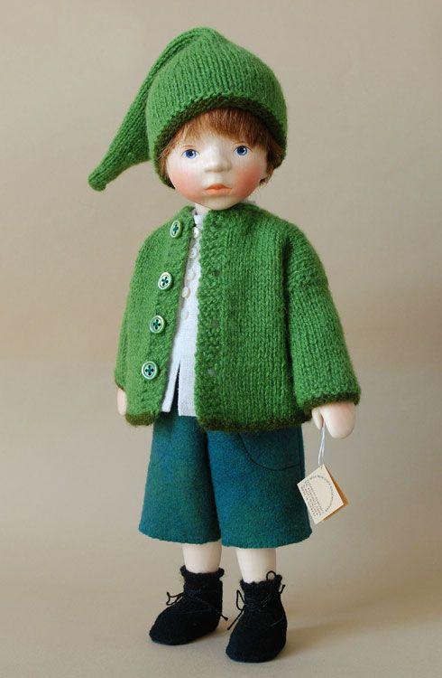 Boy In Green Jacket H337 by Elisabeth Pongratz at The Toy Shoppe