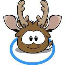 The reindeer puffle. We were able to turn into this during the Holiday Party.