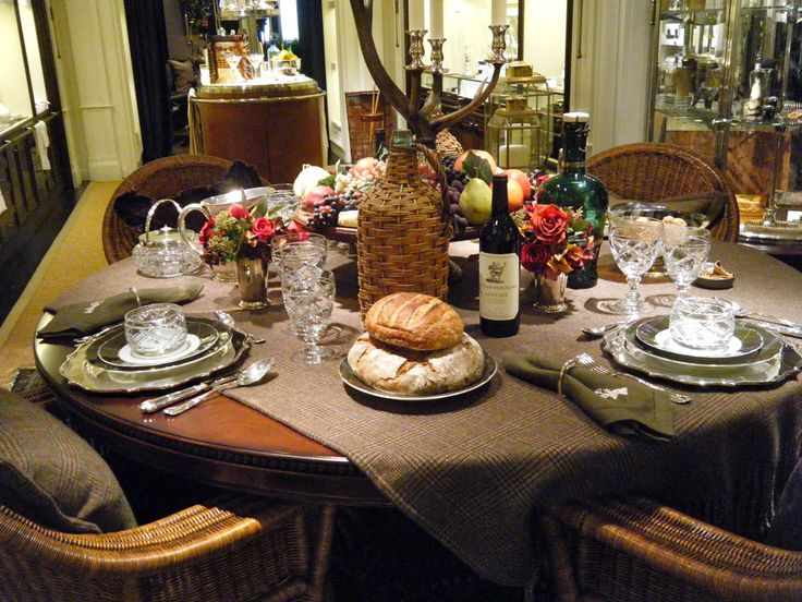 Ralph lauren 39 s thanksgiving table thanksgiving fall for Table 52 thanksgiving