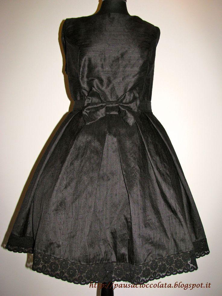silk vintage dress 50s ispiration