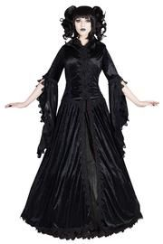 Dakota Black Gothic Coat by Sinister