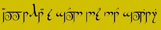 "Hobbit Rune Generator: Old English Runes, Angerthas, Tengwar ""all that is gold does not glitter"""
