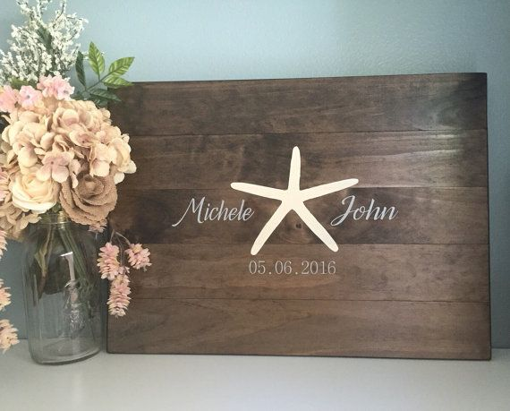 Rustic Wedding Guest Book Alternative /Starfish by TheRusticEarth