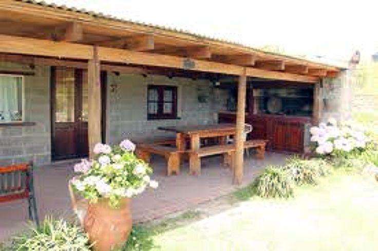 Como construir una galeria de madera y chapa buscar con for Parrilla casa de campo