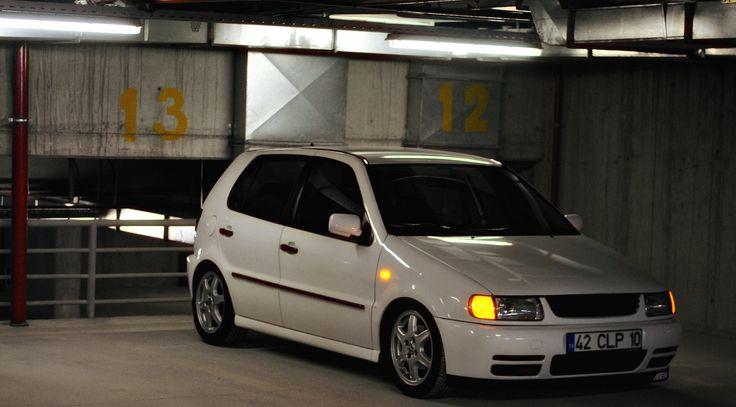 vw polo 6n sportline white doch 16v my car polocan night photo