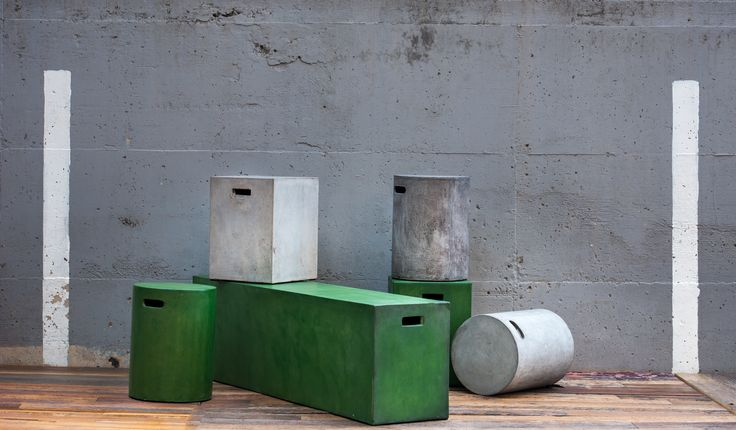 Our collection offers a wide selection of garden benches, different shape chairs, which can also  be used as side tables, and unique dining furniture and cabinets built in combination with other   materials like wood and metal, which add to the stylish appearance of the items. concrete#furniture#avneytal