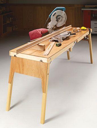 Multipurpose folding table woodsmith plans building for Folding table woodworking plans