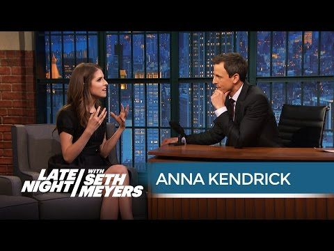"She may love red pandas more than me...#annakendrickismyspiritanimal   ANNA KENDRICK NO ""LATE NIGHT WITH SETH MEYERS"" 05/01/15"