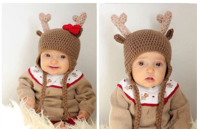 Crochet Reindeer Hat, Deer Beanie, 1 Year, 2T, 3T, 4T, 5T, Rudolf, Hunting, Deer Hunter Hat, Photo Prop, Red Bow, Christmas, Ready To Ship by jwhizcrochet on Etsy https://www.etsy.com/listing/116499422/crochet-reindeer-hat-deer-beanie-1-year