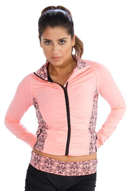 Baby Pink #Printed #Jacket for Women