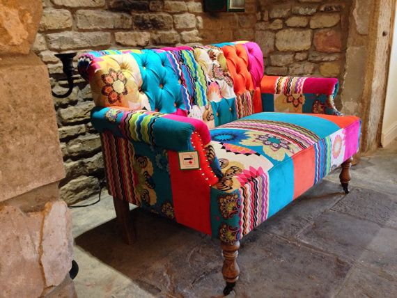 Patchwork Sofa's hand made with Velvet by smithersofstamford