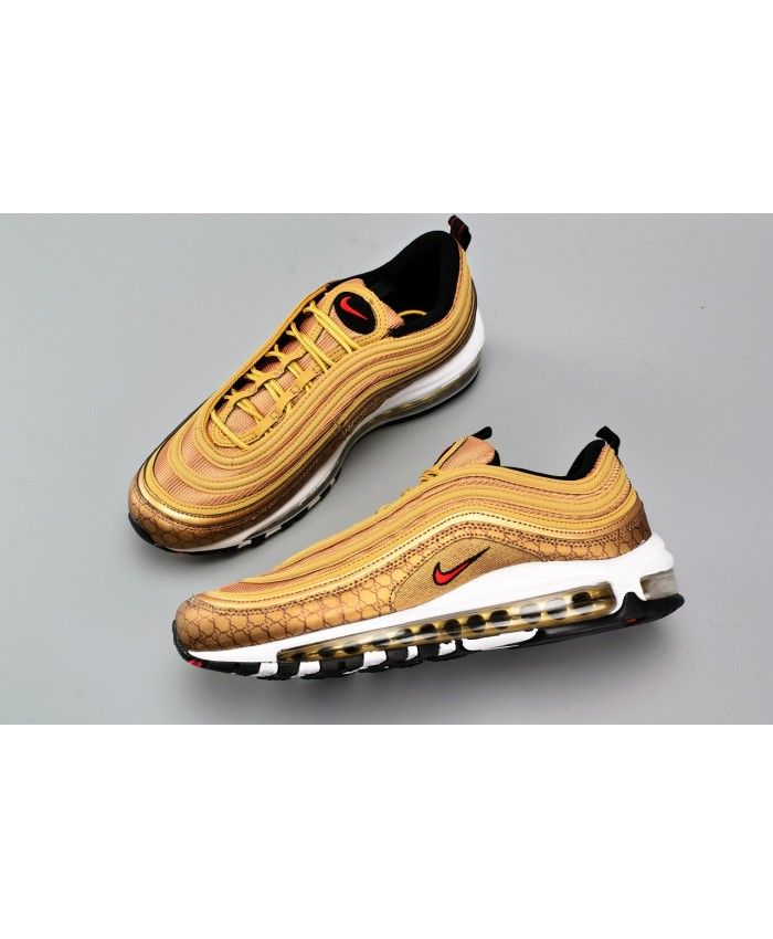 Nike Air Max 97 Og Qs Metallic Gold With Images Nike Air Max 97 Gold Nike Air Max Nike Air Max