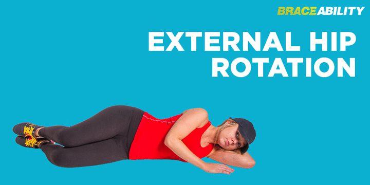 External hip rotation exercise for chondromalacia patella