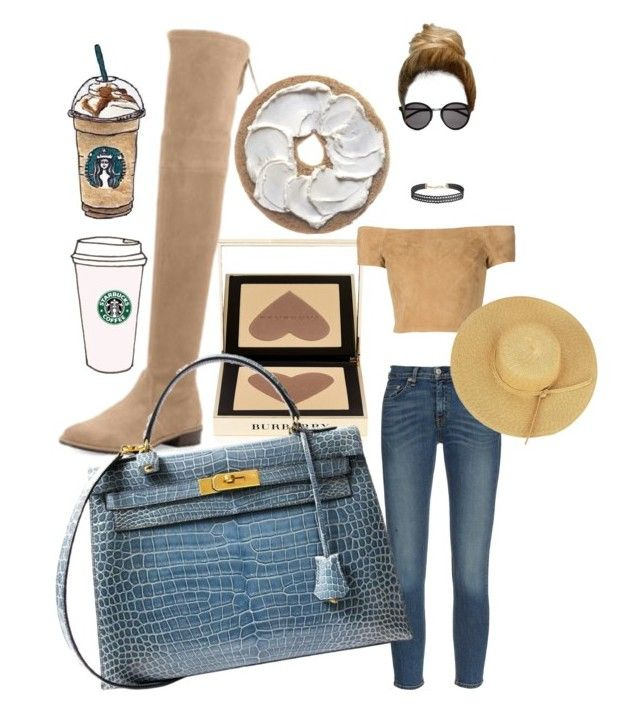 """""""Untitled #5"""" by fatgandalfqwq on Polyvore featuring rag & bone, Yves Saint Laurent, Humble Chic, Burberry, Stuart Weitzman, Hermès and Alice + Olivia"""