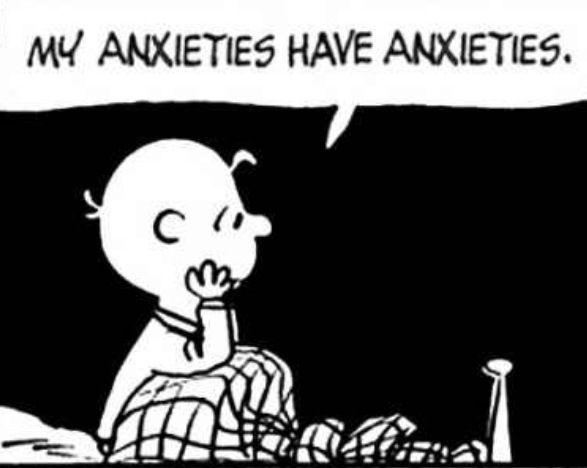 """""""My Anxieties have Anxieties"""", good grief Charlie Brown, ❤"""