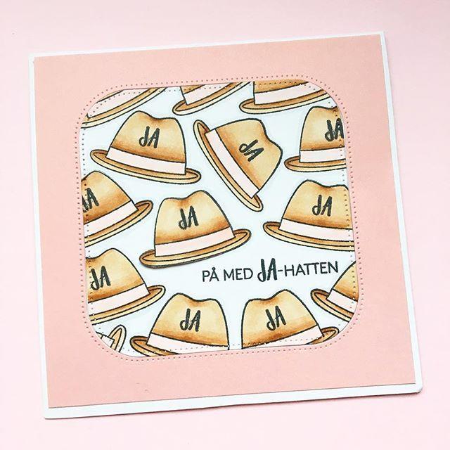 Et andet kort jeg selv nåede! På med JA-HATTEN #threescoopsdk #camillaskort #håndlavet #handcrafted #handmade #handmadecards #handmadecard #cardmakinghobby #cardmaking #scrapbooking #papirhobby #paperart #papercut #papercraft #papercrafting #stempler #clearstamps #paperdesign #papirdesign #personlighilsen  #copic #copicciao #coloring #kort #såhattenpasser #diy #doityourself #student #jahat #jahatten