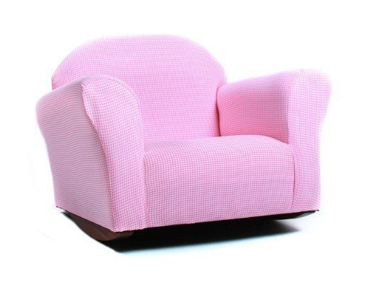 Kids Rocking Chair Girls Pink Chairs Bedroom Playroom Furniture Toddler Recliner