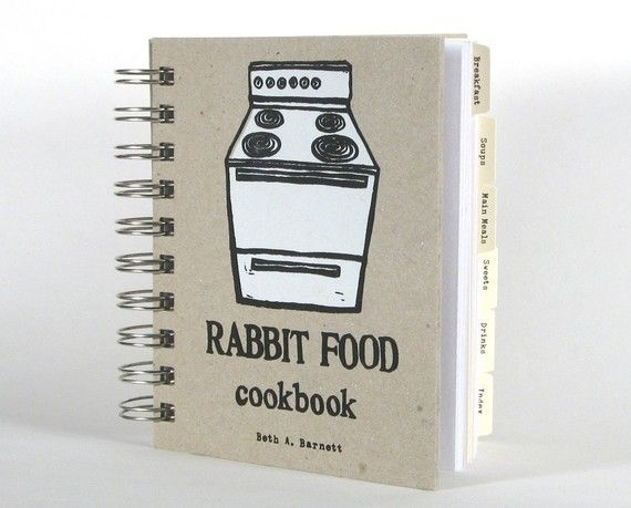 Rabbit Food Cookbook  vegan vegetarian recipes and by BethBee, $30.00