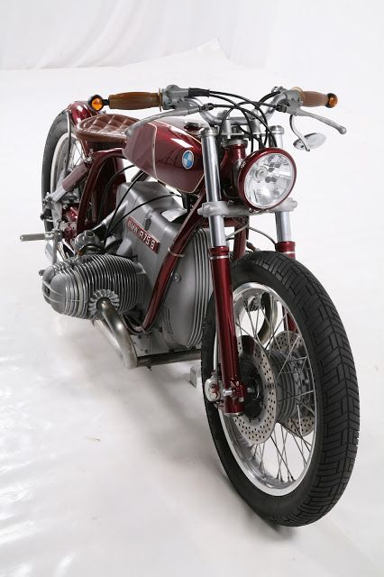 BMW classic motorcycle | BMW | motorcycles | bikes | rides | driving | classic BMW | red BMW