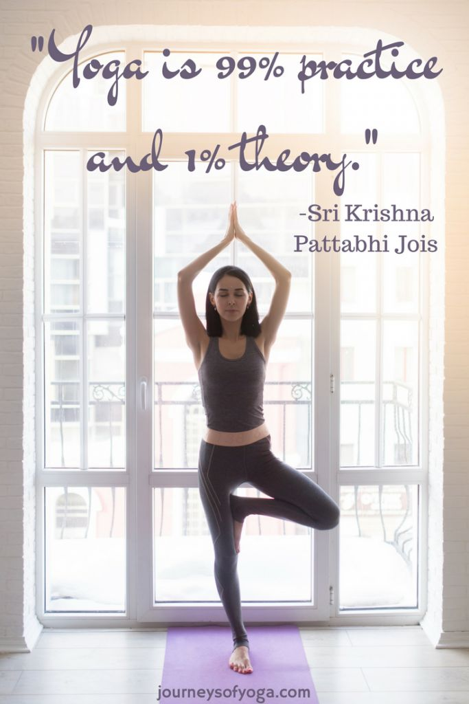 -Yoga is 99% practice and 1% theory. Check out this yogi's journey: March Yoga Report
