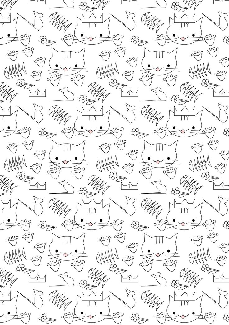 MeinLilaPark – DIY printables and downloads: Free printable cat coloring paper - ausdruckbares Ausmalpapier - freebie