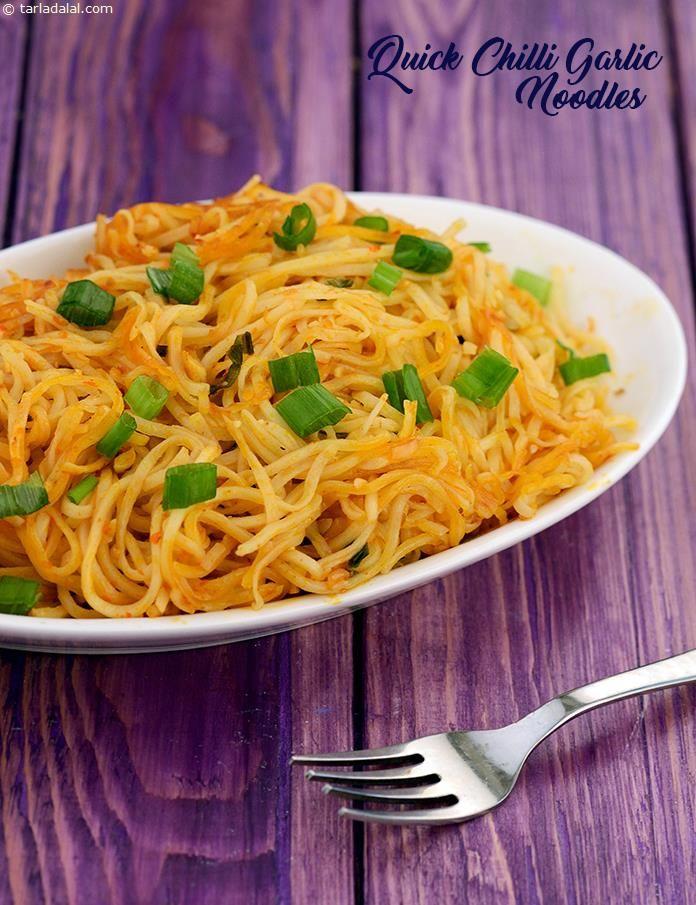 Quick Chilli Garlic Noodles, Chinese Chilli Garlic Noodles