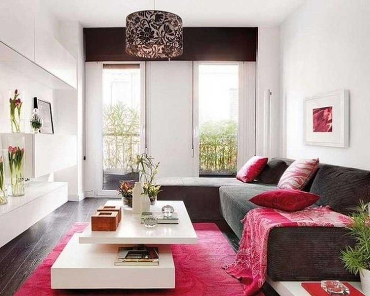 Beautiful Pink Rug For Awesome Room Interior Decorating Ideas : Winsome  Pink Rug Under The White Table In Living Room Including Round Floral  Pendant Lamp ...