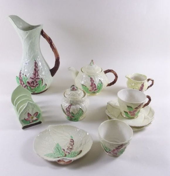 A Carlton Ware group of foxglove china. Did not know such things existed, but I like it!